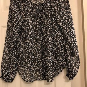 Black with white flower top